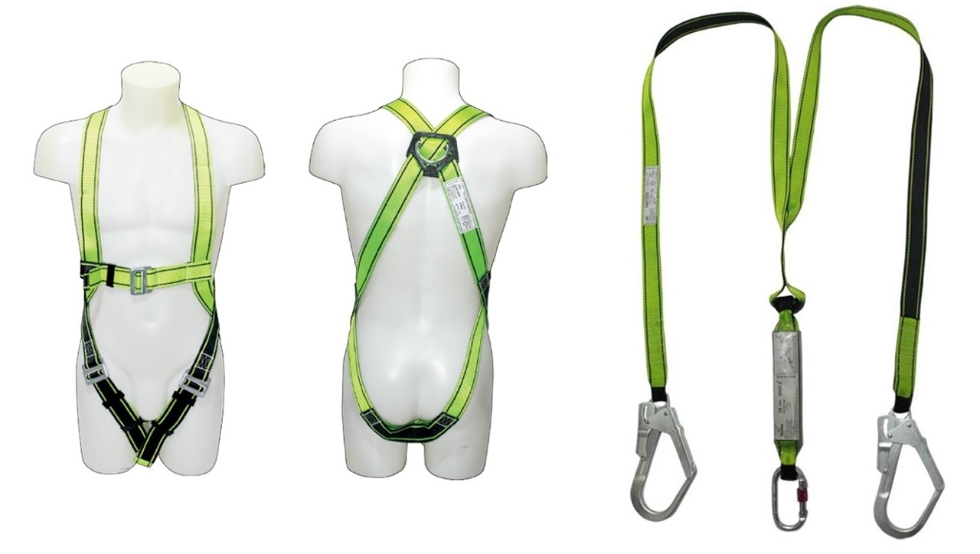 double full harness with lanyard